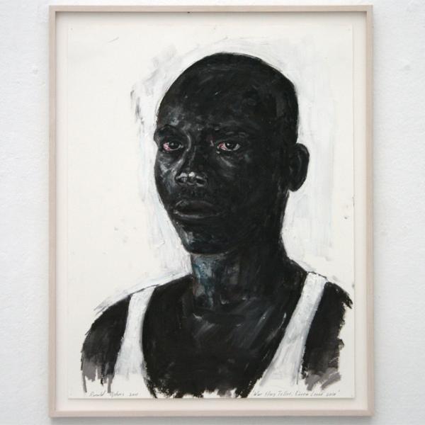 Ronald Ophuis - War Story Teller (Sierra Leone) - 60x50cm Olieverf op papier