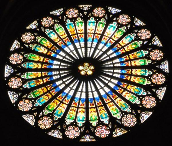 Roosraam Notre Dame van Straatsburg