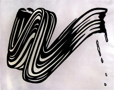 Roy Lichtenstein - White Brusstroke I - 122x142cm