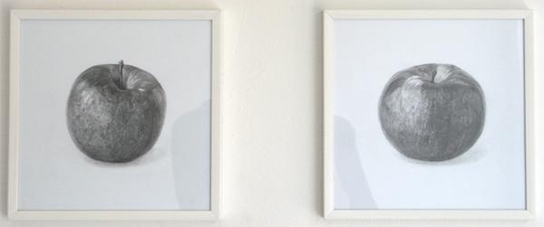 Rumiko Hagiwara - Fuji & Macintosh - 20x20cm Potlood op papier