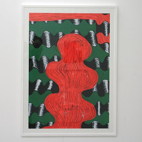 Sarah Verbeek - Untitled - 100x70cm Acrylverf en oliepastel op papier