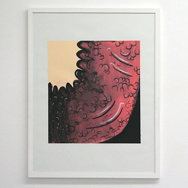 Sarah Verbeek - Untitled - 40x37cm Acrylverf en oliepastel op papier