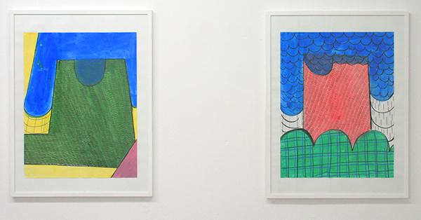 Sarah Verbeek - Untitled - 60x50cm Acrylverf, oliepastel en potlood op papier