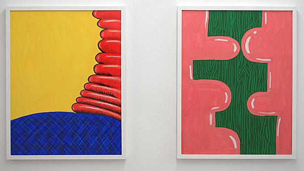 Sarah Verbeek - Untitled & Untitled- 65x50cm Acrylverf en oliepastel op papier