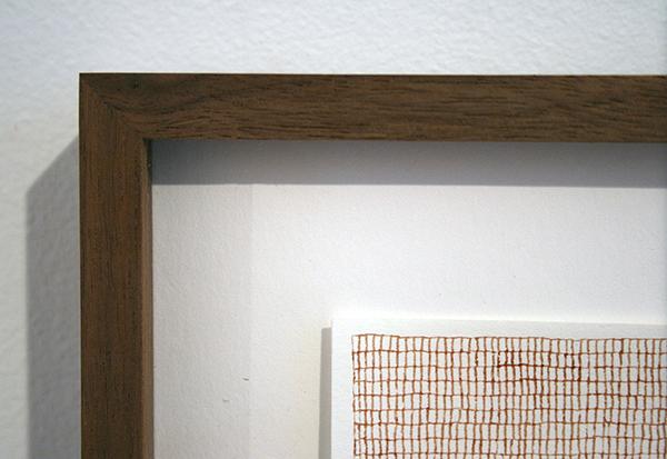 Sarah van der Lijn - Bloedraster - 15x21cm Bloed van de kunstenaar op bamboevezel (detail)