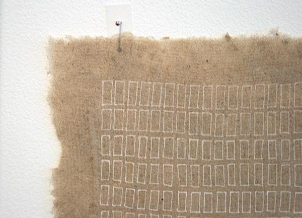Sarah van der Lijn - Witte inkt - 15x26cm Witte inkt op geschept papier (detail)
