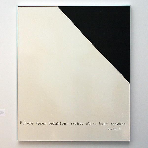 Sigmar Polke - Hohere Wesen befahlen, rechte obere Ecke schwarz malen (Hogere wezens bevalen, rechter bovenhoek zwart schilderen) - Synthetische verf op doek