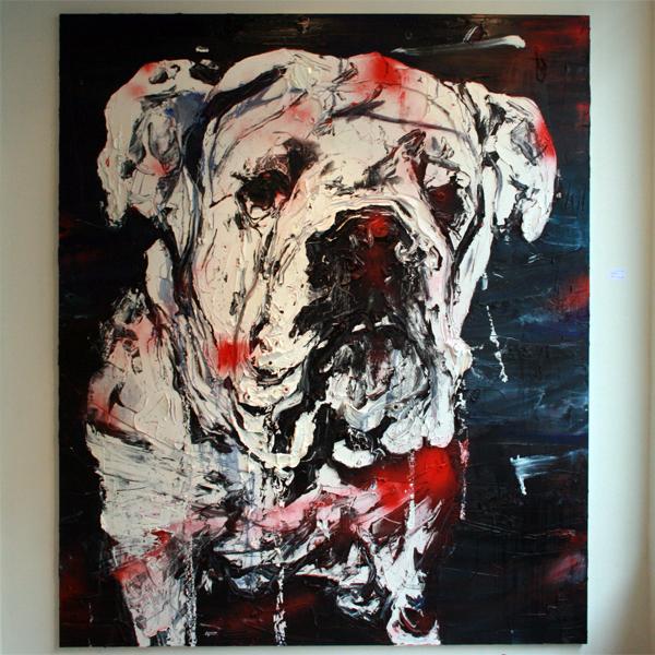 Simon Schrikker - Zonder Titel - 250x210 cm Olieverf op linnen