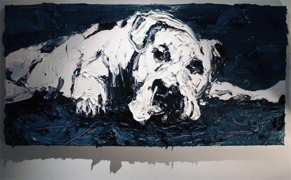 Simon Schrikker - Zonder Titel - 60x120 cm Olieverf op linnen