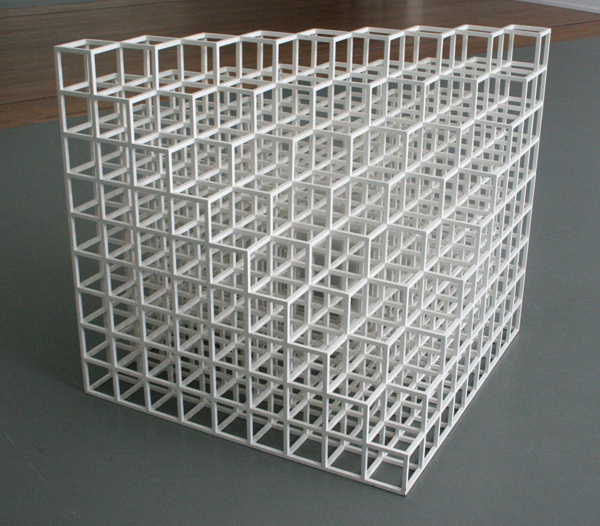 Sol LeWitt - Floor Piece No1 (Cube Structure Based On Nince Modules)