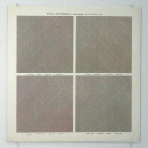 Sol LeWitt - Four Different Orders of Printing