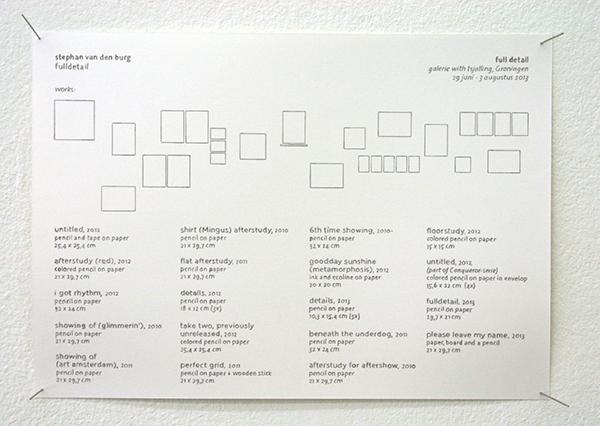 Stephan van den Burg - Fulldetail - 30x21cm Potlood op papier