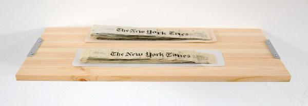 Sven Sachsalber - The New York Times 2013 & The New York Times 2014 - Collages van krantenpapier van The New York Times