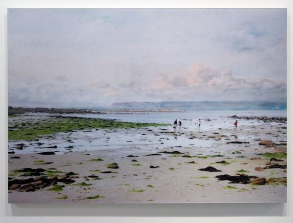 Tessa Verder - Blaue Blume 4 - 110x157cm Foto collage op dibond