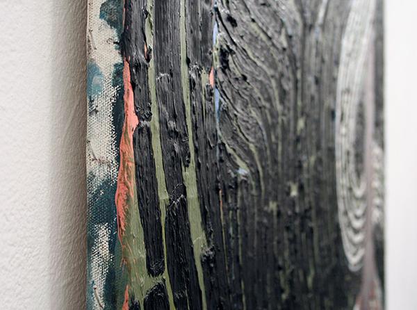 The van Bergen - Het Achterhoofd - 205x125cm Olieverf op doek, 2011-2013 (detail)