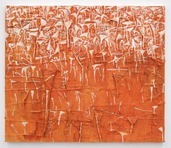 Theo Kuijpers - Outback (?) - Olieverf en collage op doek