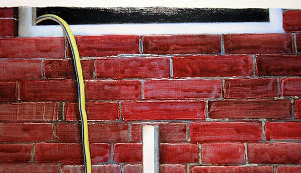 Thijs Jansen - Groeifaciliteit - 30x40cm Olieverf en acrylverf op paneel (detail)
