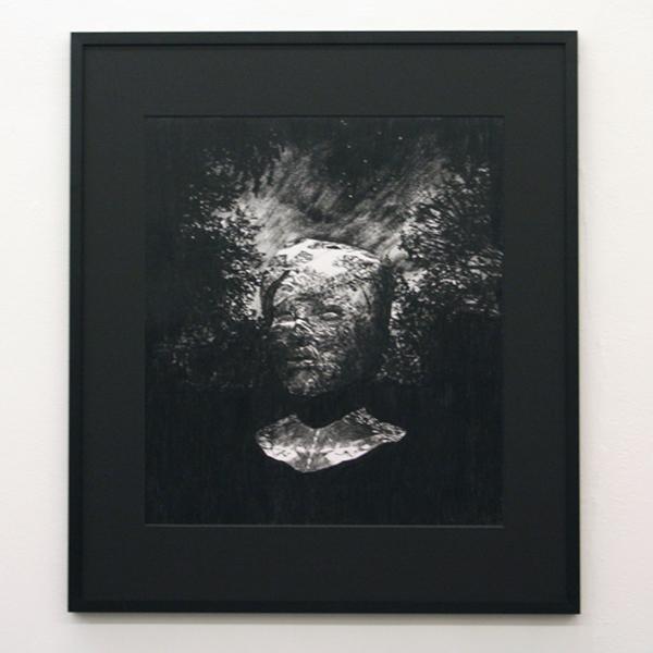 Thijs Zweers - Head - 57x50cm Grafiet op papier