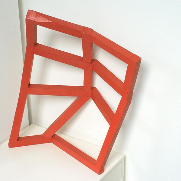Tijl Frijns - Gravel Red Construction - 60x40cm Lak op vurenhout