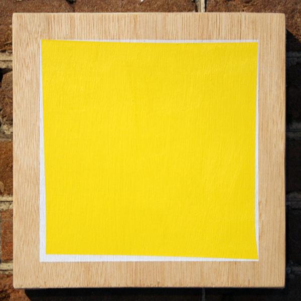 Tijl Orlando Frijns - Yellow Panel - 20x20cm Olieverf op hout