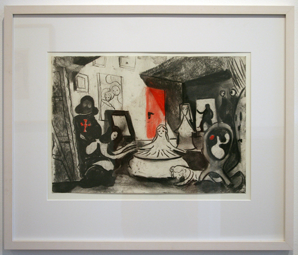 Tilo Baumgartel - Untited (Museum) - 29x40cm Houtskool en pastelkrijt op papier