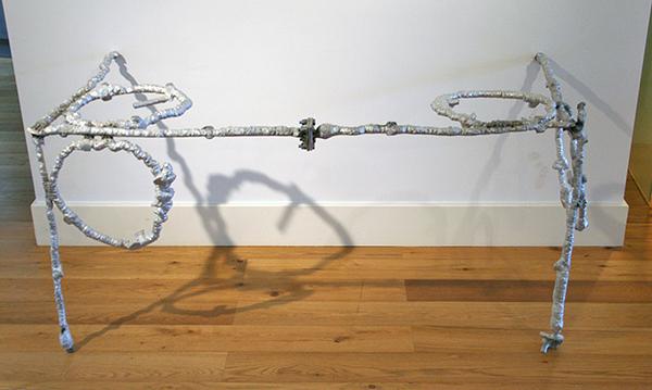 Tim Breukers - Big Doofy Dice (kwart) - 80x160x80cm Aluminium