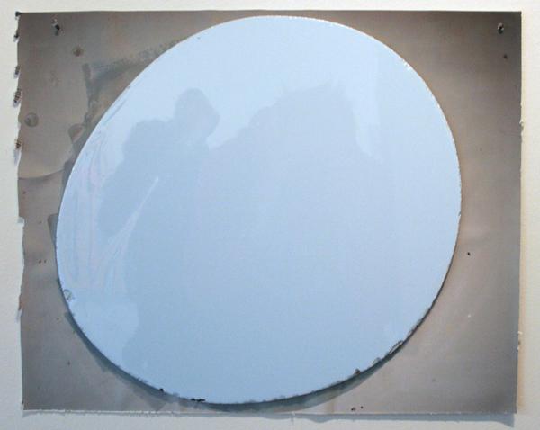 Ton van Kints - Muur geflitst (prototype) - 48x52cm Ddlak op MP, foto en alluminium
