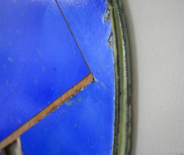 Ton van Kints - We zijn geweest 16 - 73cm Acrylverf op multiplex en binder (detail)
