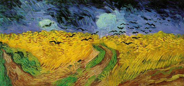 Vincent van Gogh - Korenveld met kraaien - 51x103cm Olieverf op doek