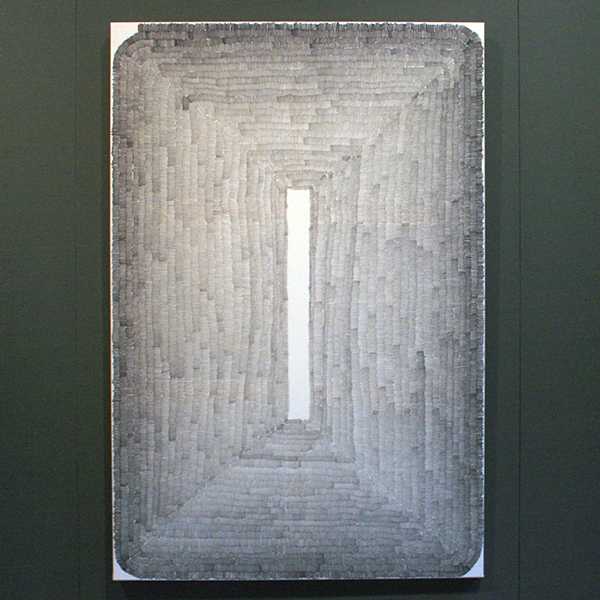 Wieteke Heldens - Portrait of the Vertical Minur - 150x100cm Marker op doek