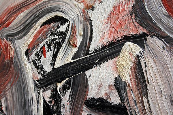 Willem de Kooning - Untitled XVI - 153x138cm Olieverf op doek (detail)