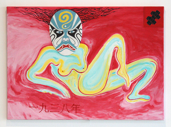 Woody van Amen - Factor two - 65x90cm Acrylverf op canvas
