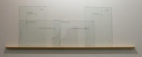 Yael Davids - Learning to Imitate in Glass - 3 maal 33x49cm