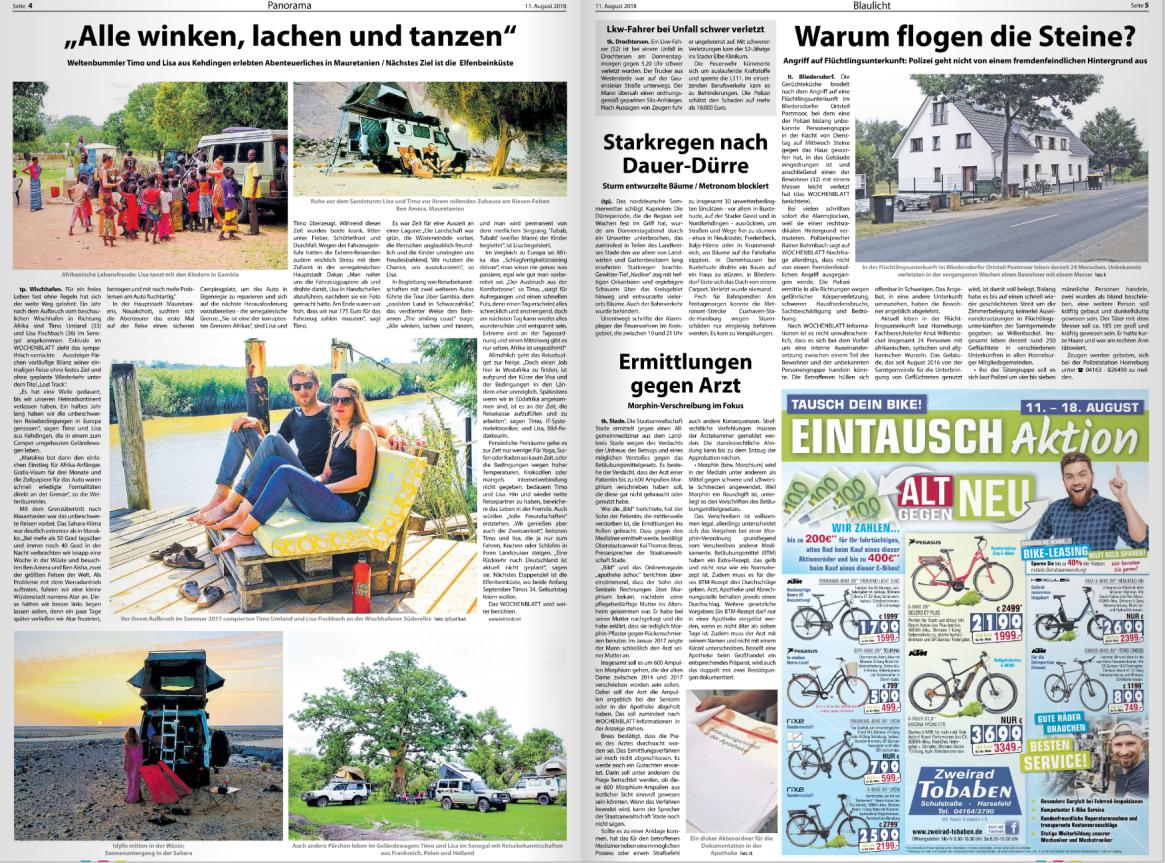Lost Track Presse Neue Stader Wochenblatt Zeitung Zeitungsartikel Presseartikel