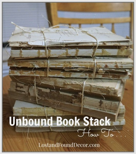 Diy How To A Make Pottery Barn Style Unbound Book Stack