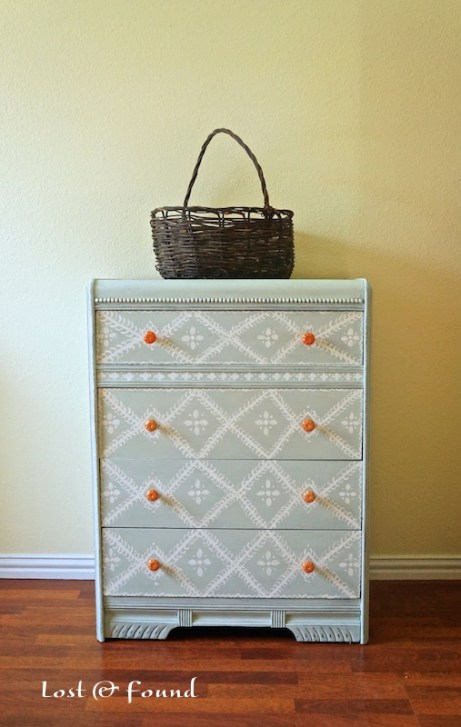 Hand-Painted Waterfall Chest of Drawers chalk paint