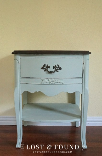 French Provincial Nightstand painted in chalk paint