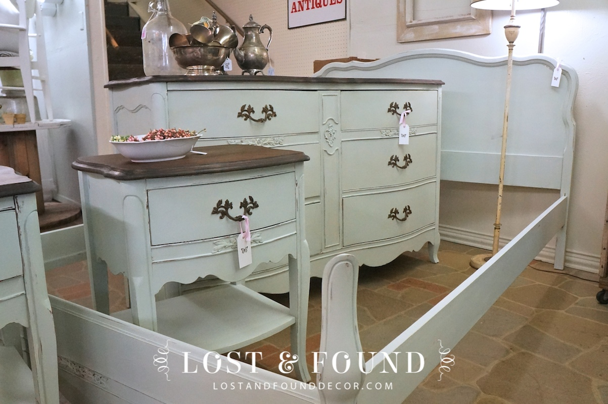 french provincial bedroom set reveal | lost & found