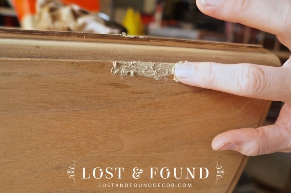 how to fix missing veneer with wood filler
