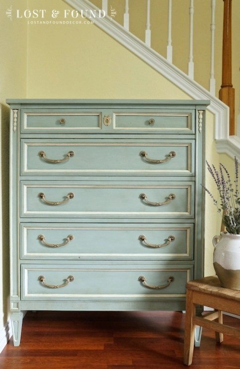 Blue 5-drawer Chest