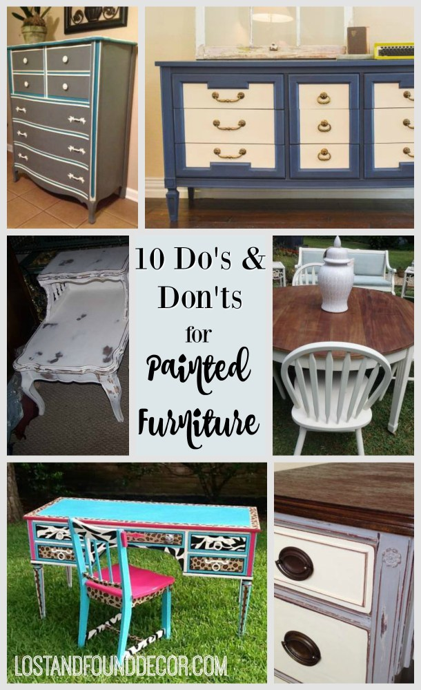 how to paint furniture with chalk paint so it looks good