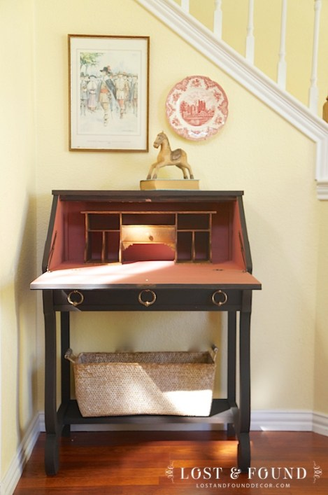 secretary desk furniture makeover