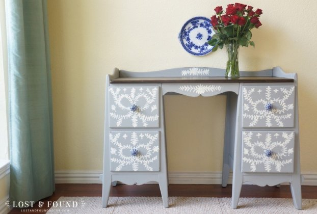 Antique Desk Furniture Makeover