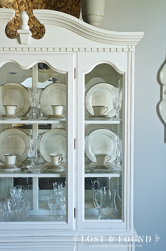 China cabinet Makeover, painted in Fusion Mineral Paint Champlain