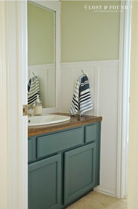 DIY Bathroom Renovation with Painted Vanity