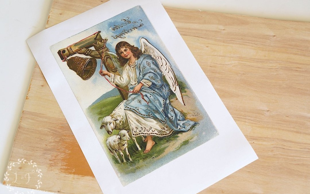 Vintage Easter Postcard Door Sign [ How-To ]