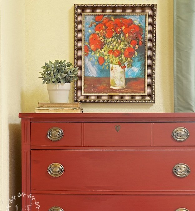 Vintage Dixie Chest in Fusion Ft. York Red