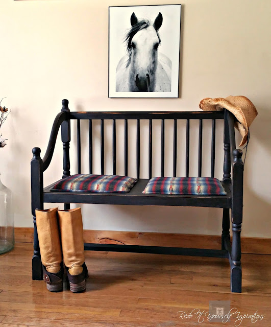 Bench Makeover with PO paint