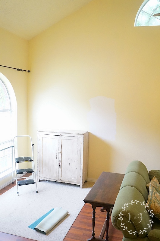 new entry stairwell and living room paint color lost found