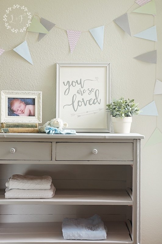 Fusion Mineral Paint Little Lamb Changing Table
